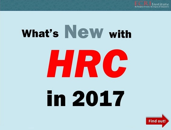 What's New with HRC