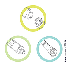 ENFit connectors for feeding tubes and syringes