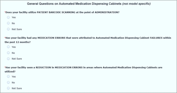 User Experience Automated Medication Dispensing Cabinets